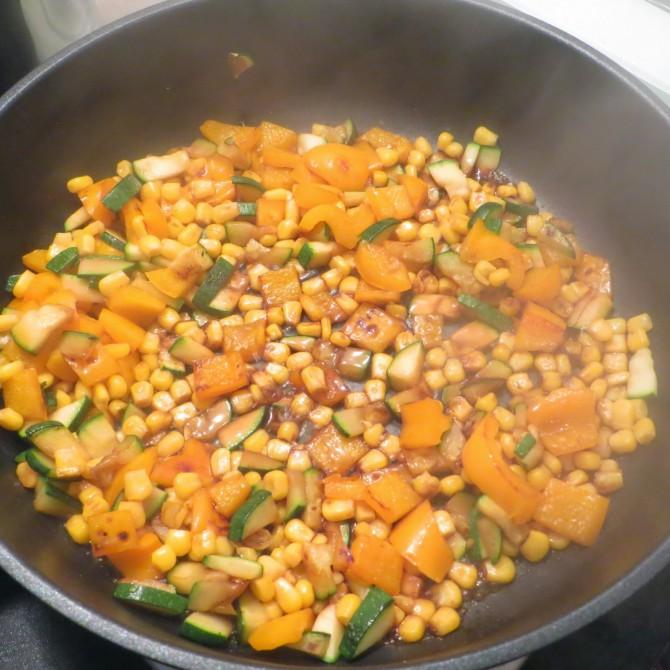 Gastrolux: Gemüse-Reis-Pfanne mit Parmesan